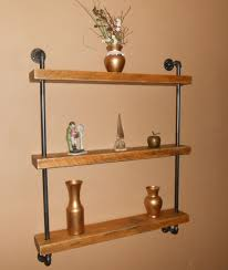 Reclaimed Wood Shelves by Industrial Pipe Shelf Pipe Shelving Wood And Pipe Shelf Free