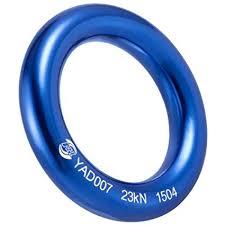 blue rock rings images Prond aluminum rappel ring climb perfect tension jpg