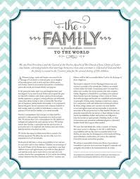 family proclamation 28 best the family a proclamation to the world images on