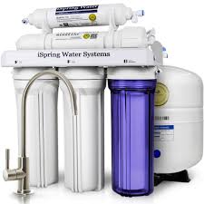 ispring 5 stage under sink reverse osmosis water filter with focus