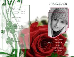 ideas collection how to customize a funeral program template