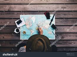 Europe On World Map by Tourist Pointing Europe On World Map Stock Photo 574613113