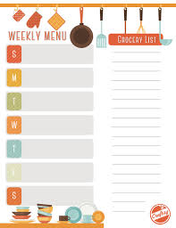 weekly menu templates free get a free printable weekly meal planner on craftsy