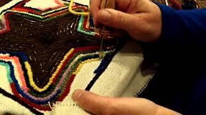 Punch Needle Rug Hooking Oxford Punch Needle Threading And Punching Youtube
