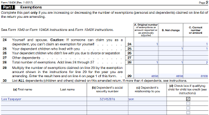 2014 Tax Tables 1040ez Form 1040x Instructions How To File An Amended Tax Return