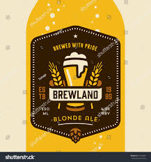 original retro home brew beer bottle stock vector 227102890