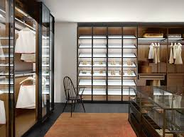 wall mounted walk in wardrobe contemporary wooden high end