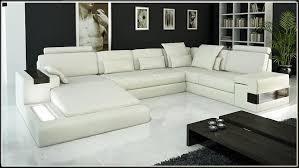 canapé design de luxe canapé angle en cuir vachette blanc