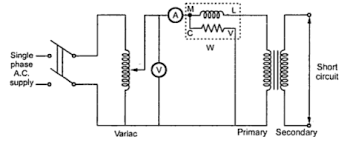 circuit diagram of load test on single phase induction motor