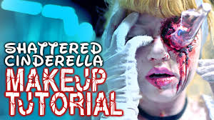 zombie cinderella tutorial shattered cinderella beauty fx makeup tutorial glam gore