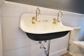 fresh black trough bathroom sink 19957