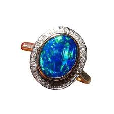 blue opal engagement rings blue opal ring with diamonds for flashopal