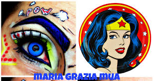 Wonder Woman Makeup For Halloween by Wonder Woman Eye Art Makeup Youtube