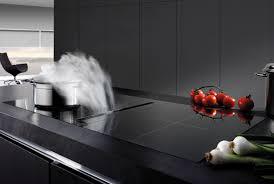 aspirateur pour hotte de cuisine hotte de plan de travail airone mercure 520 verre noir haute