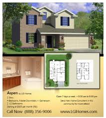 Home Floor Plans Texas 4 Br 2 Ba 1 Story Floor Plan House Design For Sale Houston Tx Lgi