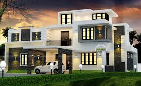 house plan magazines spectacular modern box type house with estimated construction cost