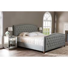 baxton studio jessie modern fabric button tufted headboard and