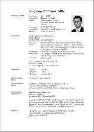 curriculum vitae writing pdf forms cv and resume writing pdf cv in english template cv jobsxs com