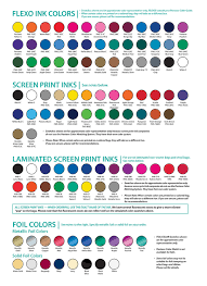 Pantone Color Names Stock Imprint Silkscreen Colors