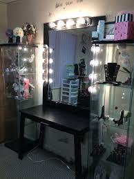 Vanity Table Small Space Vanities Makeup Desk At Walmart Makeup Vanity Set With Lighted