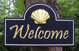 shell welcome sign danthonia designs usa
