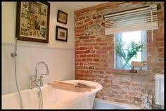 keep the brick bathrooms the lettered cottage brick wall bathroom