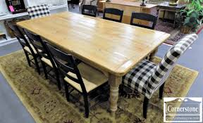 Rustic Pine Dining Tables Gaines Mchale Rustic Pine Farm Table U0026 8 Ethan Allen Chairs 2