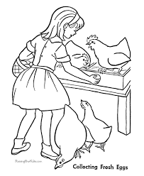 coloring page of a chicken chicken coloring pages