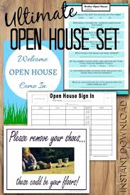 Real Estate Open House Flyer Template by Open House Set For Rockstar Real Estate Agents Richagent Success