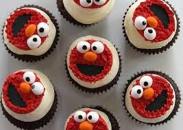 elmo cupcakes elmo cupcakes