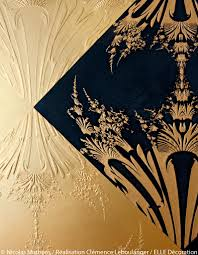 Antoinette Poisson Papier Peint Inspiration Dorée Nos Images Et Adresses Préférées Elle Décoration