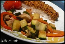 cuisiner courgettes poele poêlée de courgettes poivrons et chignons mes petits délices