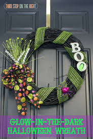 easy to make glow in the dark halloween wreath third stop on the