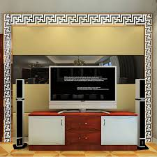 aliexpress com buy new modern mirror style removable decal art 1xremovable decal art mural wall sticker