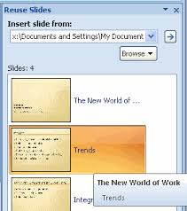 powerpoint 2016 2013 how to import slides from another