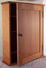 cherry medicine cabinet with mirror or solid door recessed or