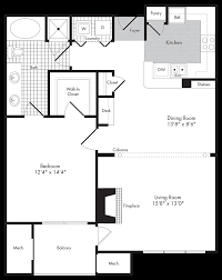 Fireplace Floor Plan Floor Plans Greenwich Place Apartments The Bozzuto Group Bozzuto