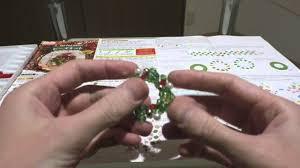 japanese craft kits daiso christmas beading kit wreath youtube