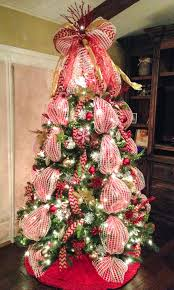 deco mesh tree with chevron burlap ribbon and mesh