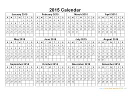 printable calendar year 2015 horizontal calendar 2015 gidiye redformapolitica co