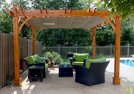covered pergola retractable canopy waterproof outdoor living