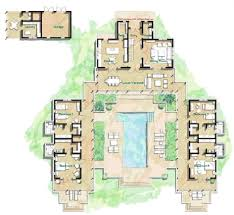 tropical floor plans apartments floor plan with courtyard in middle of the house the