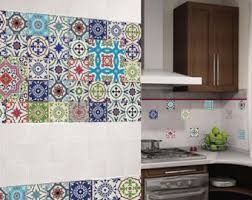 Portuguese Tiles Kitchen - laminated vinyl stickers tiles of the houses of lisbon