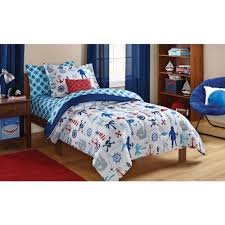 Anchor Bedding Set Mainstays Pirate Bed In A Bag Bedding Set Walmart