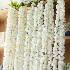 120cm home decoration silk garland flowertrigeminal white