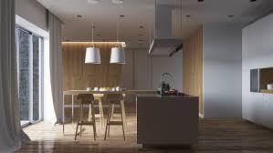 design luxury dark brown wooden and marble multi level kitchen