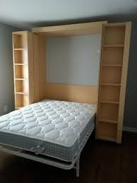 Double Bed Designs For Small Rooms Furniture Small Murphy Bed Bedroom Contemporary Decoration With