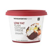 low fat plain smooth cottage cheese 250g woolworths co za