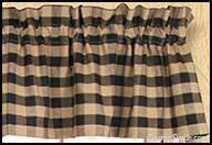 Black Tan Curtains Window Curtain Valances