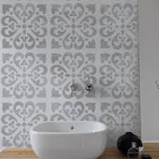 64 Best Moroccan Stencil And by Tangier Tile Stencil Mediterranean Spanish Moroccan Wall